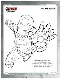 Small Picture Free Printable Marvel Avengers Iron Man Coloring Page Printable