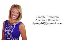 Anchor Reporter Resume Reel Janelle Brandom 2016 2017 Youtube