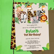 1st Birthday Party Invitation Template Jungle 1st Birthday Party Invitation Template Jungle Animals One Safari First Birthday Invitation Pdf Template Diy