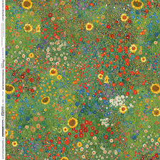 robert kaufman gustav klimt farm garden with sunflowers spring