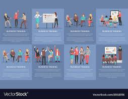 Business Training Seminars Set Of Posters