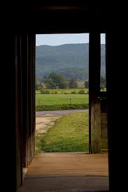 looking out door. Cades Cove Photograph - Looking Out The Front Door By Mike Aldridge