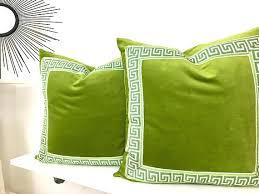 green velvet pillow. Green Velvet Pillow Cover Larger Image .