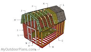 Shed Roof Building A Shed Roof Roof FramingGambrel Roof Plans