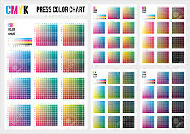color chart cmyk press color chart vector color palette cmyk process printing