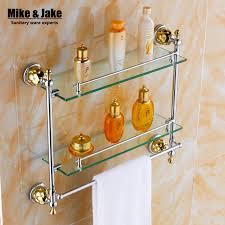 bathroom tempered glass shelf: bathroom glassshelf solid brass chrome finish wall glass shelf with tempered glasssingle glass shelf