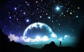 Beautiful Moon And Stars Wallpaper Hd