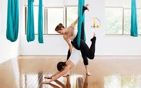 what is aerial yoga silks