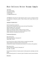 delivery driver sample resume