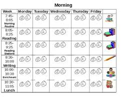 Behavior Chart Template For Word Kinder Visual Schedule Behavior Chart Tracker For Home School