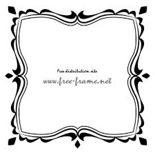 白黒の可愛らしい四角フレーム枠 無料商用可能枠フレーム