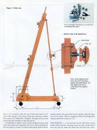Easel Design Plans Artist Easel Plans Woodarchivist