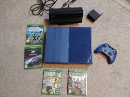 xbox one s blue console xbox one s forza motorsport 6 limited edition blue xbox one
