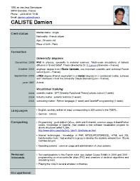 Cover Letter Current Resume Format Current Resume Format For