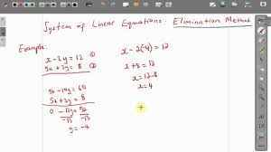 cxc csec maths how to solve simultaneous equations elimination method