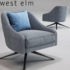 roar rabbit swivel chair west elm 3d model max obj mtl
