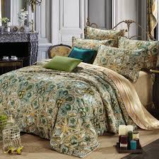 olive green comforter set green bed sets warm olive and gold moroccan style tribal paisley print