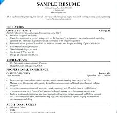 Cv Samples For Engineering Students Internship Cv Format Download Pdf Resume Example For Spacesheep Co