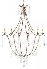 currey company elizabeth wrought iron crystal chandelier by currey company