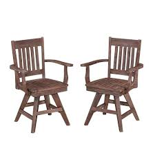 Home Styles Morocco Acacia Wood Swivel Patio Dining Chair (2-Pack ...