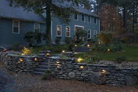 elеgРnt outdoor retaining wall lighting design ideas of yard lighting ideas