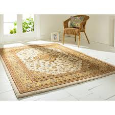 flair rugs traditional collection ottoman temple cream