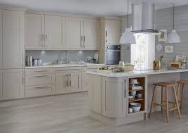 Our Carisbrooke cashmere kitchen combines the best of timeless  craftsmanship with a contemporary finish to bring