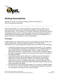 139 Writing Descriptions Barstow Community College