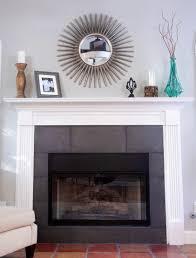 prefab fireplace glass doors
