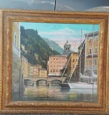original lee reynolds burr oil painting