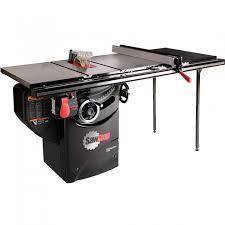 table saw fence. sawstop 1.75 hp professional table saw w/36\u0027\u0027 fence, rails, and fence