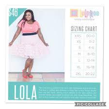 Lola Skirt Size Chart Lola Size Chart In 2019 Lularoe Lola Sizing Lularoe