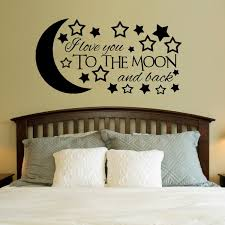 homey idea i love you to the moon and back wall art home design ideas
