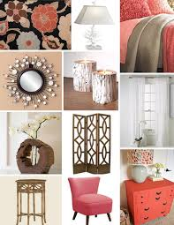 Peach Bedroom Decorating Tan And Coral Bedroom Decor With Wood Accents Rooms Decor I