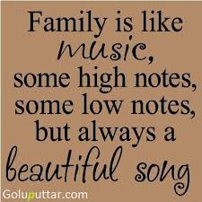Lovely Quotes Unique Lovely Family Quote It's Like Music Photos And Ideas Goluputtar