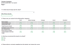 Course Evaluation Questionnaire Template. Online Course Evaluation ...