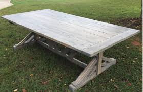 Farmhouse Massive 85 4 Wide Double Trestle Table Designed To Seat 12 This Wide Frame Looks Stunning With The Double Trestle Features Edwin Pelser Standard Trestle Tables Homes Tables