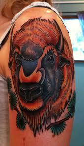 татуировка зубр значение фото и эскизы
