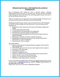 bilingual resume examples and bilingual secretary resume ... Stunning Fluent  In English And Spanish ...