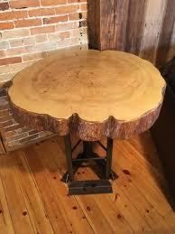 artistic furniture. Custom Artistic Furniture - Rustic Wood Table Live Edge