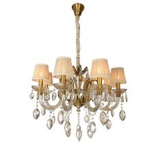 Golden Lipper Lighting Crystal Gold Chandelier Chandeliers Goldenlipper