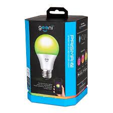 Walmart Alexa Light Bulbs Geeni Prisma 450 Color Smart A19 Light Bulb 60w Equivalent