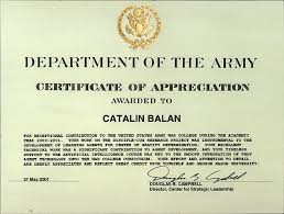 Military Certificate Templates army certificate of appreciation template military appreciation 90