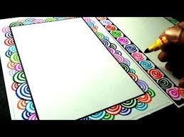 Handmade Easy Border Design For Chart Paper