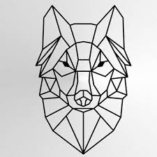 geometric wolf reusable stencil a3 a4