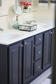painting a bathroom vanity. \u0027Gray\u0027 By Ben Moore - My Painted Bathroom Vanity Before And After | Two Painting A L