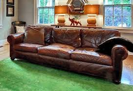 restoration hardware leather sofa. Interesting Hardware Restoration Hardware Original Lancaster Leather Sofa Couch In O