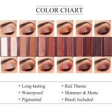 Eyeshadow Color Combination Chart Us 5 98 30 Off Ucanbe Brand Hot Sale Molten Rock Heat Eye Shadow Makeup Palette Nude Shimmer Matte Smoky Eyeshadow Red Brown Pumpkin Cosmetics In