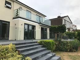 First Floor Terrace Design Fully Frameless Glass Balcony With Frameless Glass Gates To