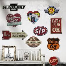 Bedroom Wall Plaques Extraordinary STP 48 Retro Metal Tin Signs Poster Wall Decor Bar Pub Garage